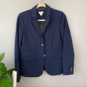 J. Crew NWOT Stretch Knit Blue Blazer Jacket Sz 4